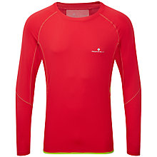 Buy Ronhill Advance Long Sleeve Running Top, Red/Yellow Online at johnlewis.com
