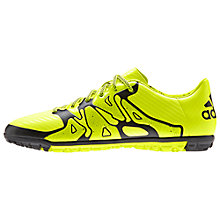 Buy Adidas X15.3 TF FG Football Shoes, Solar Yellow/Core Black Online at johnlewis.com