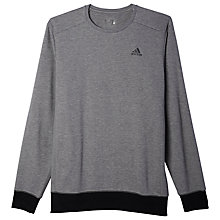 Buy Adidas Essentials Premium Crew Fleece Jumper, Core Heather Online at johnlewis.com