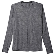 Buy Adidas Supernova Long Sleeve Running Top, Dark Grey Heather Online at johnlewis.com