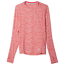 Buy Adidas Supernova Long Sleeve Running Top, Super Pink Online at johnlewis.com