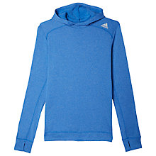 Buy Adidas Response Fleece Hoodie, Blue/Black Online at johnlewis.com