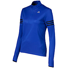 Buy Adidas Response Long Sleeve Half Zip Running Top, Bold Blue Online at johnlewis.com