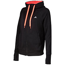 Buy Adidas Prime Full Zip Hoodie, Black Online at johnlewis.com