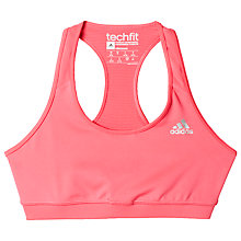 Buy Adidas Techfit Sports Bra Online at johnlewis.com