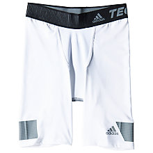Buy Adidas Techfit Cool 9-Inch Short Tights, White Online at johnlewis.com