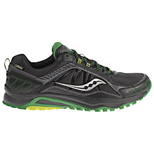 Buy Saucony Excursion GTX Trail Men's Running Shoes, Black Online at johnlewis.com