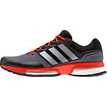Buy Adidas Response Boost Men's Running Shoes, Grey/Orange Online at johnlewis.com