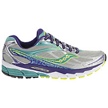Buy Saucony Ride 8 Women's Running Shoes, Blue/Silver Online at johnlewis.com