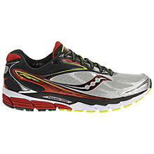 Buy Saucony Ride 8 Men's Running Shoes, Silver/Red Online at johnlewis.com