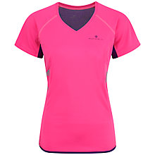Buy Ronhill Vizion Short Sleeve Running Top, Pink/Purple Online at johnlewis.com