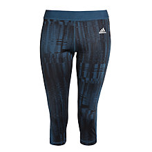 Buy Adidas Go to Gear Techfit 3/4 Length Capris, Midnight Blue Online at johnlewis.com