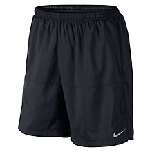 "Buy Nike 7"" Distance Running Shorts, Black Online at johnlewis.com"