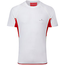 Buy Ronhill Advance Short Sleeve Crew Neck Running T-Shirt, White/Red Online at johnlewis.com