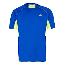 Buy Ronhill Vizion Short Sleeve Running Top, Blue/Yellow Online at johnlewis.com
