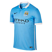 Buy Nike 2015/16 Manchester City Home Football Shirt, Field Blue/Football White Online at johnlewis.com