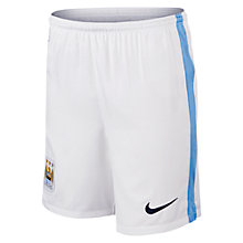 Buy Nike 2015/16 Manchester City Home Boys' Football Shorts, Football White/Field Blue Online at johnlewis.com