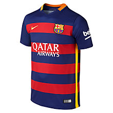 Buy Nike 2015/16 FC Barcelona Home Kids' Football Shirt, Loyal Blue/Storm Red Online at johnlewis.com