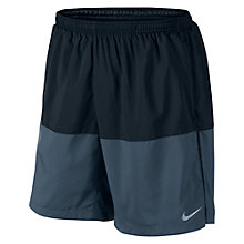 "Buy Nike 7"" Distance Shorts, Black/Squadron Blue Online at johnlewis.com"