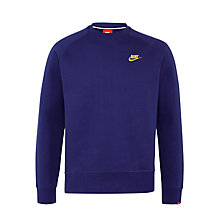 Buy Nike Ace Fleece Sweatshirt, Deep Royal Blue Online at johnlewis.com