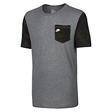 Buy Nike Power Grid T-Shirt, Carbon Heather Online at johnlewis.com