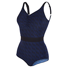 Buy Speedo Crystalshine One Piece Swimsuit, Blue/Black Online at johnlewis.com