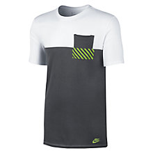 Buy Nike Hazard Tee, White/Dark Grey Online at johnlewis.com