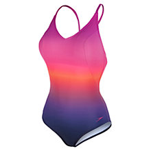 Buy Speedo Sculpture Aurashine One Piece Swimsuit, Purple/Red Online at johnlewis.com
