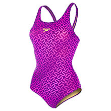 Buy Speedo Monogram Allover Muscleback Swimsuit Online at johnlewis.com