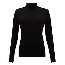 Buy Kin by John Lewis Merino Roll Neck Top, Black Online at johnlewis.com