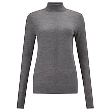 Buy Kin by John Lewis Merino Wool Roll Neck Jumper, Grey Online at johnlewis.com