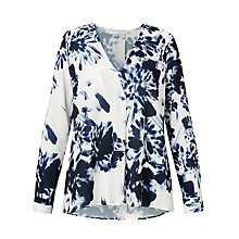 Buy John Lewis Capsule Collection Bella Print Blouse, Navy/Cream Online at johnlewis.com