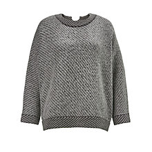 Buy Kin by John Lewis Twill Knit Jumper, Grey Online at johnlewis.com