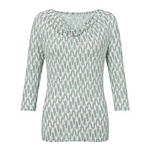 Buy John Lewis Capsule Collection Cowl Neck Ikat Print Top, Green Online at johnlewis.com