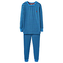 Buy Little Joule Boys' Kipwell Stripe Jersey Pyjamas, Azure Blue Online at johnlewis.com