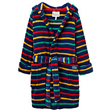 Buy Little Joule Boys' Stripe Robe, Navy/Multi Online at johnlewis.com