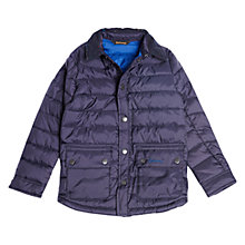 Buy Barbour Boys' Landan Quilt Jacket, Navy Online at johnlewis.com