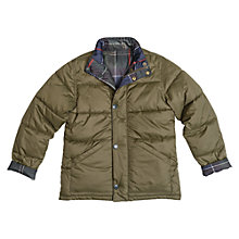 Buy Barbour Boys' International Holden Quilt Jacket, Olive Online at johnlewis.com