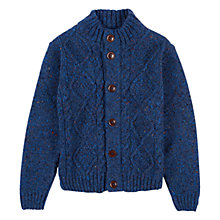Buy Barbour Boys' International Oliver Button Through KnitJumper, Blue Online at johnlewis.com