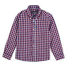 Buy Barbour Boys' International Holden Shirt, Blue/Red Online at johnlewis.com