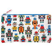 Buy Cath Kidston Robots Pencil Case, Cream Online at johnlewis.com