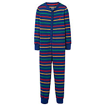 Buy Little Joule Boys' Connor Stripe Jersey Onesie, Navy Online at johnlewis.com