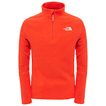 Buy The North Face Boys' Glacier Half Zip Fleece, Red Online at johnlewis.com