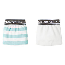 Buy Mango Kids Boys' Printed Cotton Boxers, Pack of 2, White/Aqua Online at johnlewis.com
