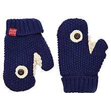 Buy Little Joule Jaws Shark Mitten Gloves, Navy Online at johnlewis.com