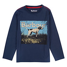 Buy Barbour Boys' International Pointer Long Sleeve T-Shirt, Navy Online at johnlewis.com
