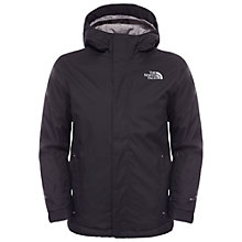 Buy The North Face Boys' Snowquest Hooded Jacket, Black Online at johnlewis.com