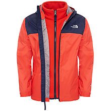 Buy The North Face Boys' Elden 3 in 1 Hood Jacket, Red Online at johnlewis.com