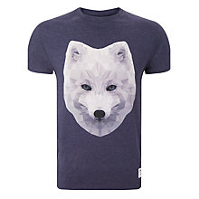Buy Supremebeing Jamie Wolf Print T-Shirt, Navy Marl Online at johnlewis.com