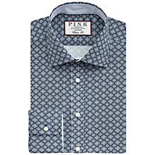 Buy Thomas Pink Nicholson Print Shirt, Navy/White Online at johnlewis.com